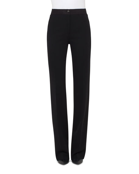Akris Carla Crepe Wide-Leg Pants