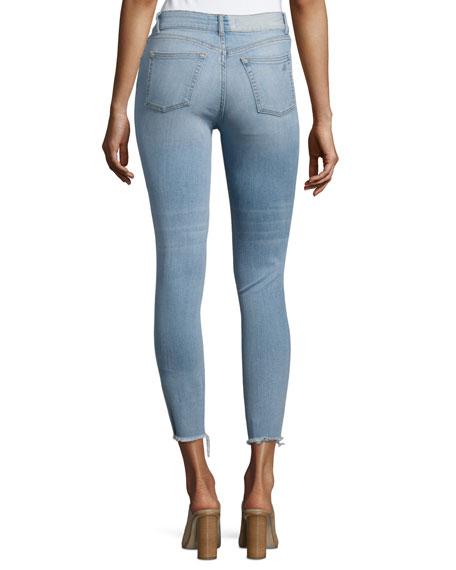 Farrow Instaslim High-Rise Skinny Ankle Jeans with Raw Hem, Trophy