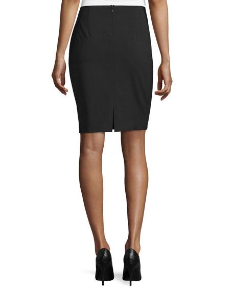 Bennet Short Pencil Skirt, Black