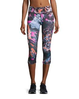Tempest Rose Core Capri Leggings, Multicolor