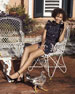 Mia Floral-Print Sleeveless Ruffle Top, Navy