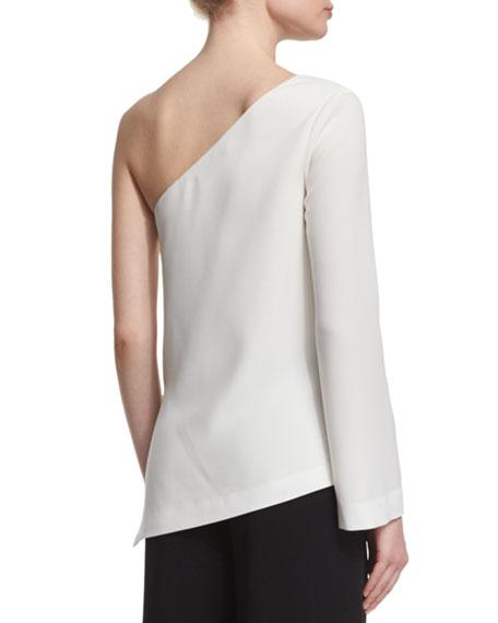 Layla One-Sleeve Blouse, Ivory