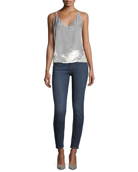 Maria High-Rise Super-Skinny Jeans, Medium Blue