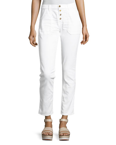 ba&sh Cmarc High-Rise Pants  White
