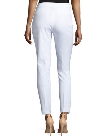 Gia Straight-Leg Ankle Pants, White