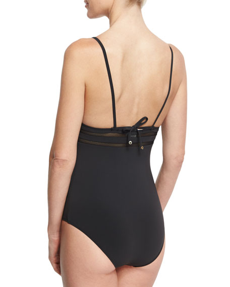 Timeless Basics One-Piece Swimsuit, Black