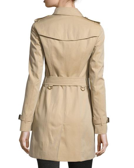 Sandringham Mid-Length Woven Trenchcoat, Honey