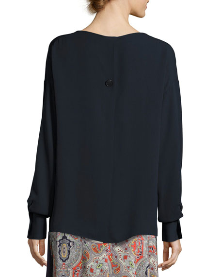 Jarthstin Classic Georgette Blouse, Blue