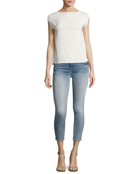 The Cropped Skinny Jeans, Indigo