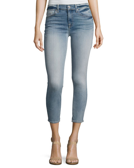 7 For All Mankind The Cropped Skinny Jeans,