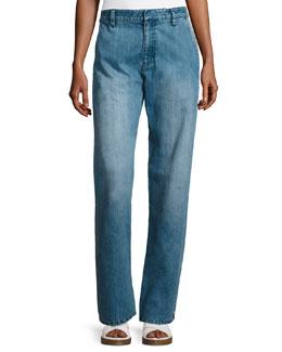 Slouchy Straight-Leg Jeans