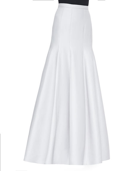 Long Pleated Trumpet Skirt