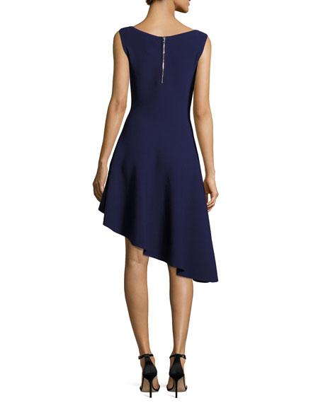 Asymmetric Drape Dress: Milly Sleeveless Asymmetric Draped Dress