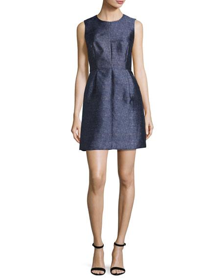 fc1e35730f Milly Coco Sleeveless Denim-Print Twill Dress
