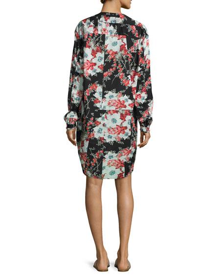 Verna Floral Patchwork Dress, Multicolor