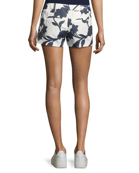 Dickies Floral-Jacquard Shorts, Navy