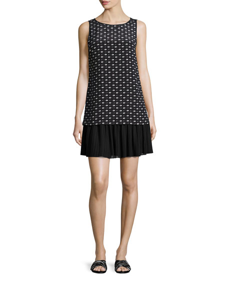 GREY by Jason Wu Sleeveless Stamped Hands-Print Silk