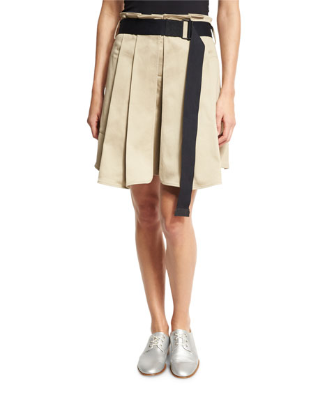 Rag & Bone Chapman Pleated Culottes with Belt,