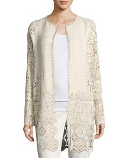 Jaya Floral Lace Coat, Multi