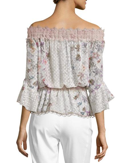 Zoia Off-the-Shoulder Floral Blouse, Multi