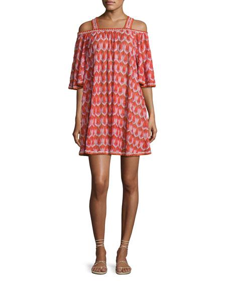 Missoni Mare Cold-Shoulder Coverup Dress, Pink