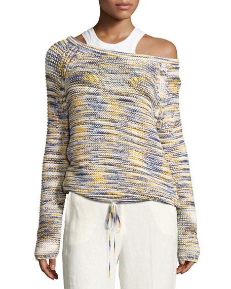 Coella Soft Chain Sweater, Multicolor