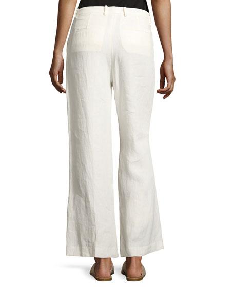 Nadeema Linen Drape Pants, White