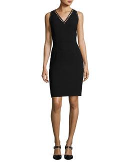 Venice Sleeveless Sheath Dress, Black