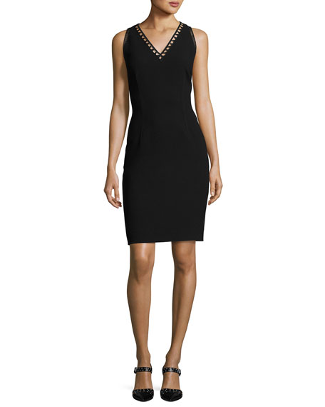Venice Sleeveless Sheath Dress, Black