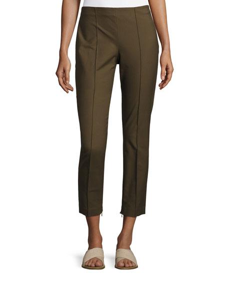 Alettah Approach Cropped Skinny Pants, Green