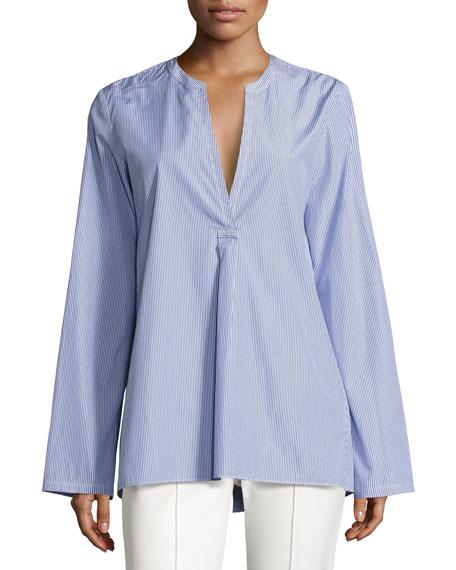 Ofeliah Taff Striped Top, Blue/White