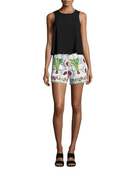 Floral-Print Cotton Shorts