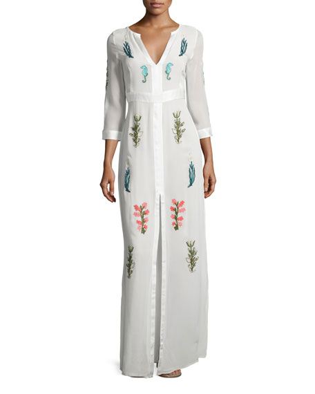 Diana Embroidered Silk Gown