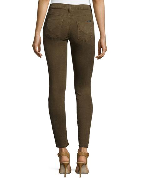 Nico Mid-Rise Skinny Jeans, Incognito Green