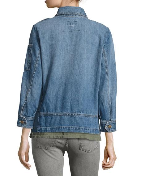 The Updated Slant-Pocket Denim Military Jacket, Old Soul