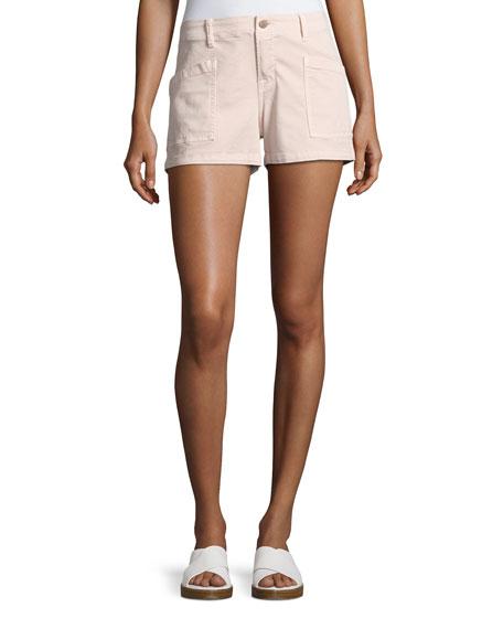 J Brand Bona Mid-Rise Cargo Shorts, Peach Whip