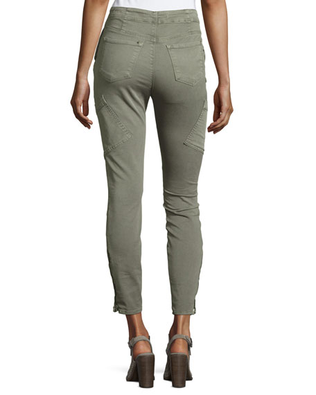 Brigitte Sky High Utility Cropped Cargo Pants