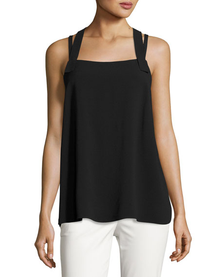 Fluid Crepe Cross-Back Tank