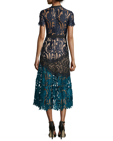 Floral-Lace Prairie Midi Dress