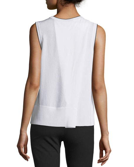 Abby Piped Crepe Tank