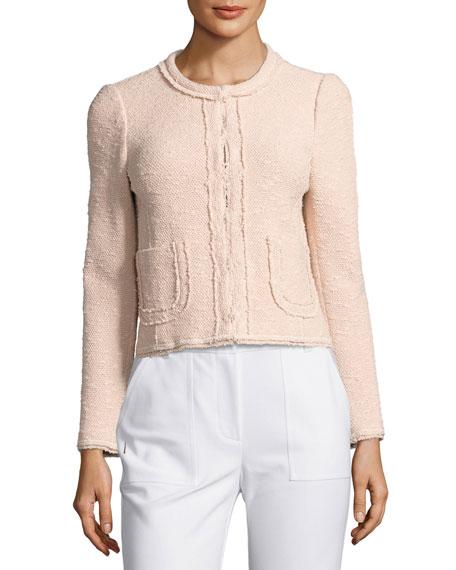 Boucle Tweed Jacket, Pink