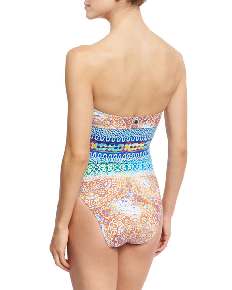 Tanzania Tile Seductress One-Piece Swimsuit, Multicolor