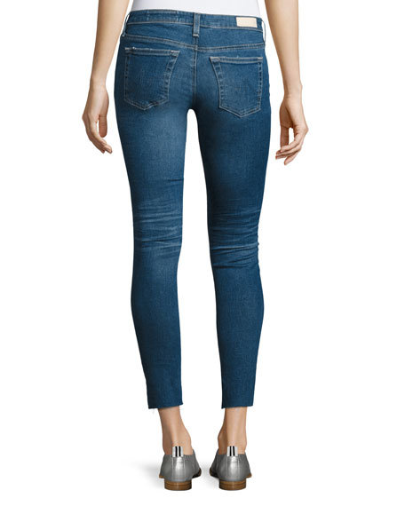14 Years Radiant Cropped Skinny Jeans with Step Hem, Indigo