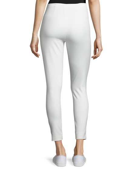 Cropped Stretch Twill High-Rise Pants