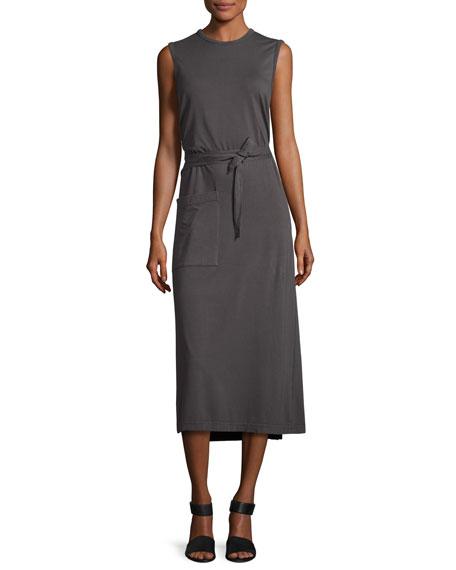 Joseph Sunny Sleeveless Jersey Wrap Tank Dress
