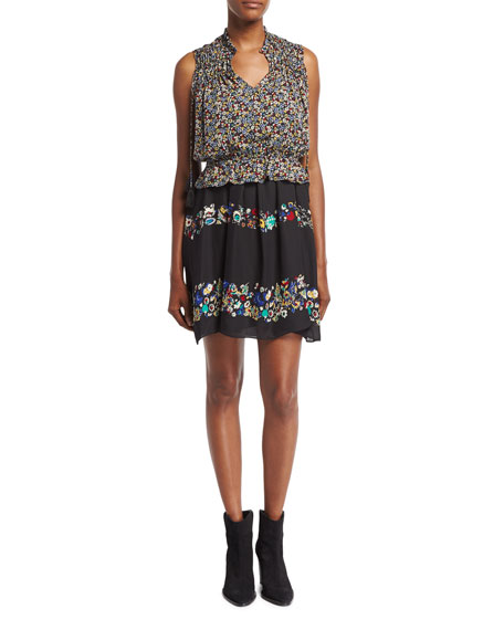 Derek Lam 10 Crosby 2-in-1 Floral Chiffon Mini