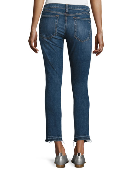 Dre Skinny Capri Jeans with Released Hem, Livington