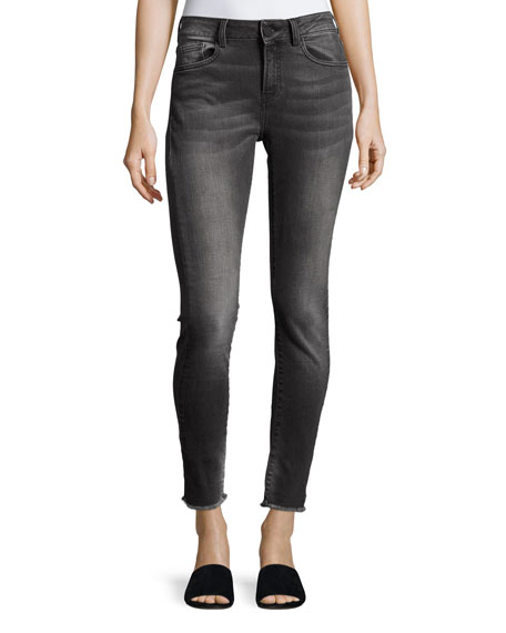 Mid-Rise Cropped Skinny Jeans