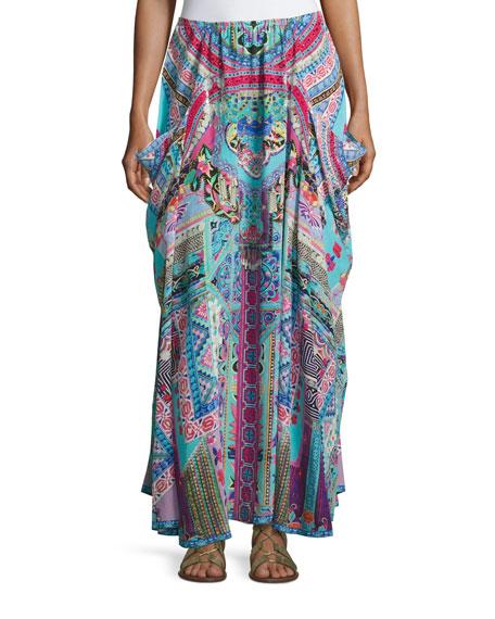 Camilla Embellished Silk Convertible Skirt Dress, Festival