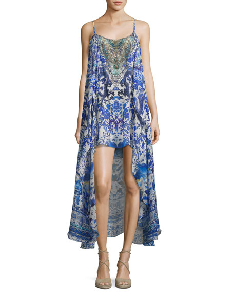 Camilla Embellished Silk Minidress with Long Overlay, Guardian